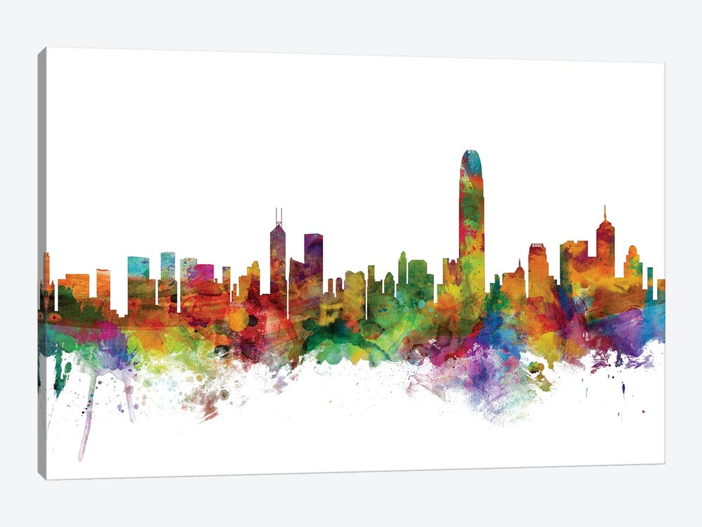 Hong Kong Skyline 1-piece Art Print