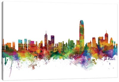 Hong Kong Skyline Canvas Art Print