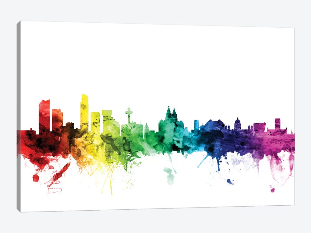 Liverpool, England, United Kingdom by Michael Tompsett 1-piece Canvas Art Print