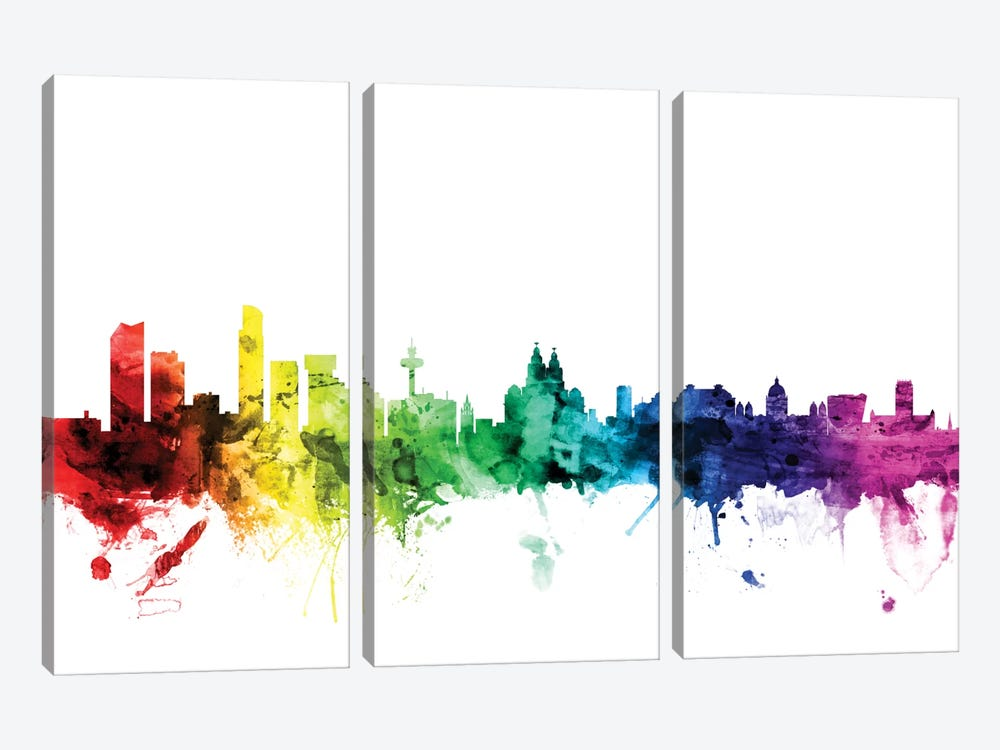 Liverpool, England, United Kingdom by Michael Tompsett 3-piece Canvas Art Print