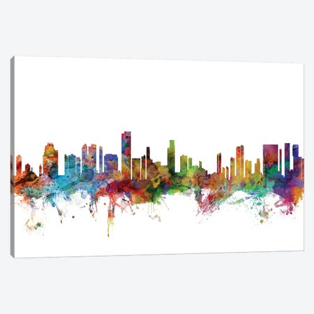 Honolulu, Hawaii Skyline Canvas Print #MTO1060} by Michael Tompsett Canvas Artwork