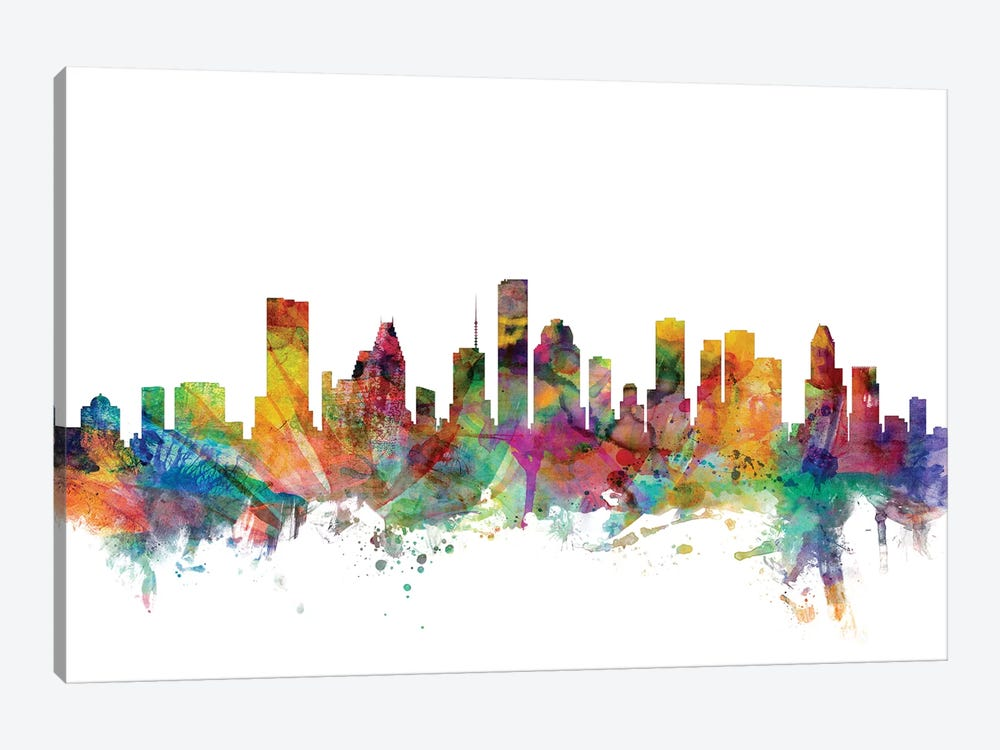Houston, Texas Skyline by Michael Tompsett 1-piece Canvas Artwork