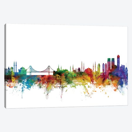 Istanbul, Turkey Skyline Canvas Print #MTO1064} by Michael Tompsett Canvas Art Print