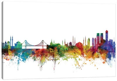 Istanbul, Turkey Skyline Canvas Art Print
