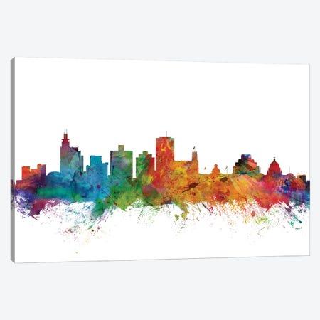 Jackson, Mississippi Skyline Canvas Print #MTO1065} by Michael Tompsett Canvas Print