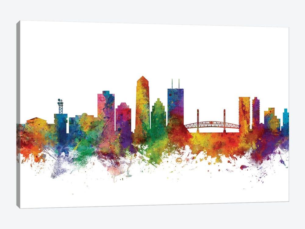 Jacksonville, Florida Skyline by Michael Tompsett 1-piece Canvas Print