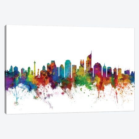 Jakarta, Indonesia Skyline Canvas Print #MTO1067} by Michael Tompsett Canvas Print