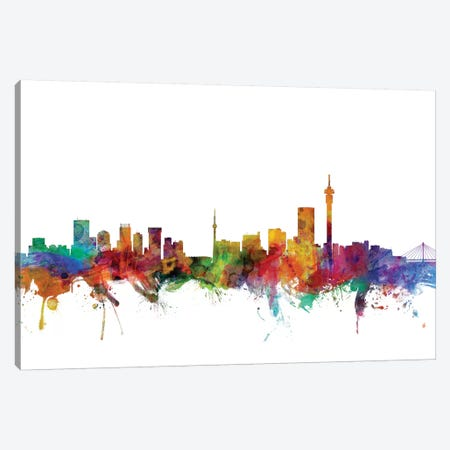 Johannesburg, South Africa Skyline Canvas Print #MTO1069} by Michael Tompsett Canvas Artwork