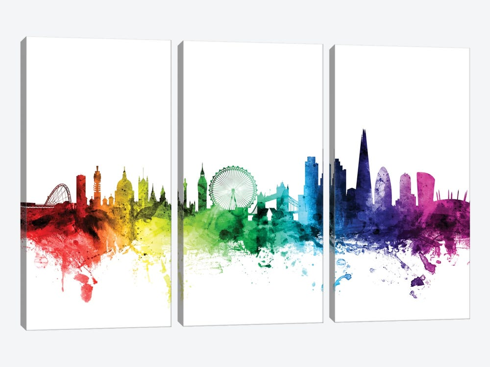 London, England, United Kingdom I by Michael Tompsett 3-piece Canvas Artwork