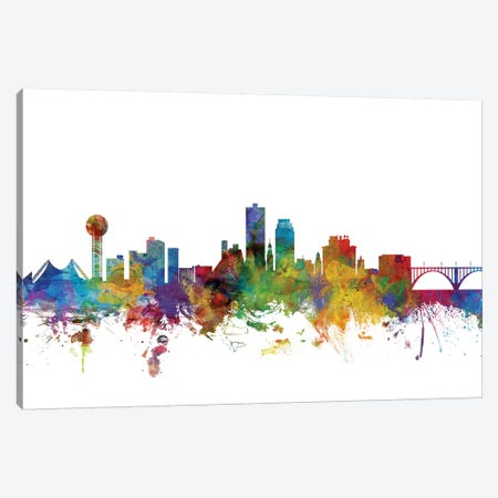 Knoxville, Tennessee Skyline Canvas Print #MTO1073} by Michael Tompsett Canvas Print