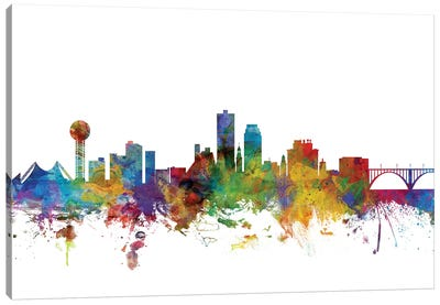 Knoxville, Tennessee Skyline Canvas Art Print