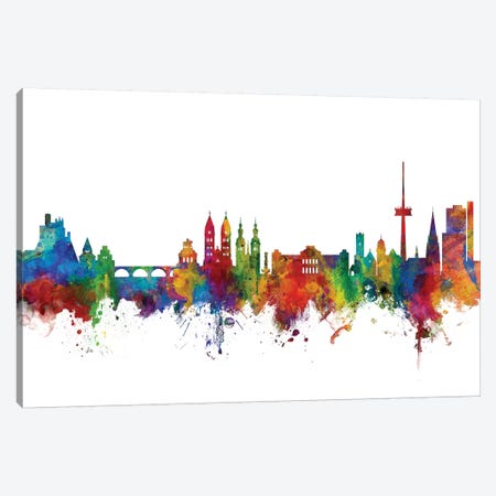 Koblenz, Germany Skyline Canvas Print #MTO1074} by Michael Tompsett Canvas Artwork