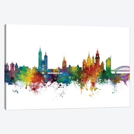 Krakow, Poland Skyline Canvas Print #MTO1075} by Michael Tompsett Canvas Artwork