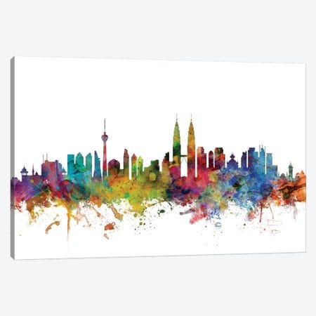 Kuala Lumpur, Malaysia Skyline Canvas Print #MTO1076} by Michael Tompsett Canvas Art