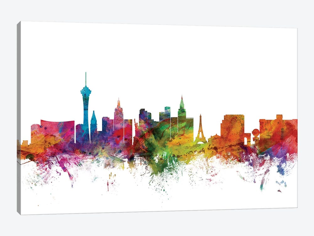 Las Vegas, Nevada Skyline by Michael Tompsett 1-piece Canvas Art