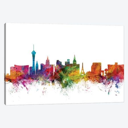 Las Vegas, Nevada Skyline Canvas Print #MTO1078} by Michael Tompsett Canvas Art Print