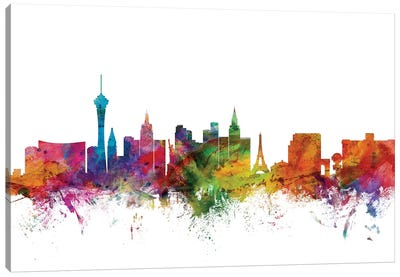 Las Vegas, Nevada Skyline Canvas Art Print