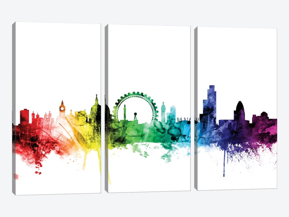 London, England, United Kingdom II 3-piece Canvas Print