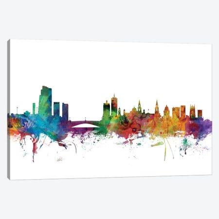 Leeds, England Skyline Canvas Print #MTO1080} by Michael Tompsett Canvas Wall Art
