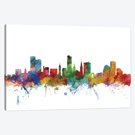 Leicester, England Skyline Canvas Print #MTO1081} by Michael Tompsett Canvas Wall Art