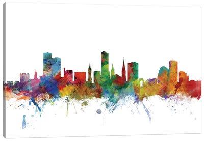 Leicester, England Skyline Canvas Art Print