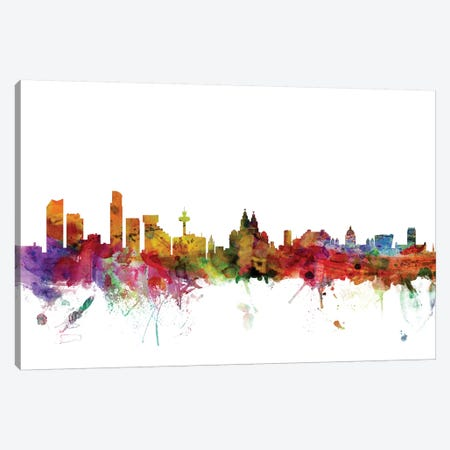 Liverpool, England Skyline Canvas Print #MTO1087} by Michael Tompsett Canvas Print