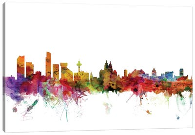 Liverpool, England Skyline Canvas Art Print