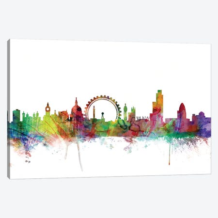 London, England Skyline Canvas Print #MTO1089} by Michael Tompsett Canvas Artwork
