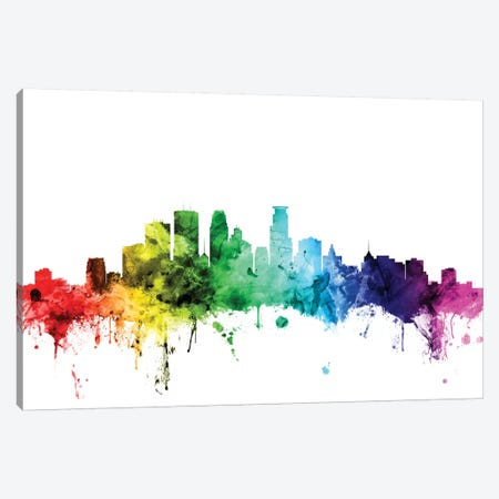 Minneapolis, Minnesota, USA Canvas Print #MTO108} by Michael Tompsett Canvas Artwork