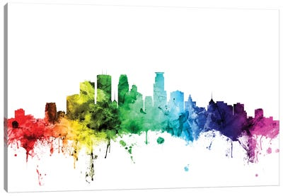 Rainbow Skyline Series: Minneapolis, Minnesota, USA Canvas Print #MTO108