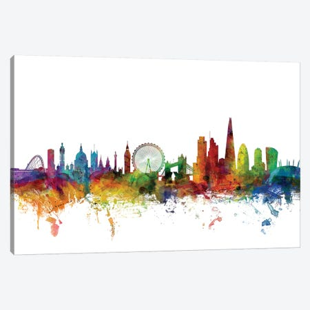 London, England Skyline Canvas Print #MTO1090} by Michael Tompsett Art Print