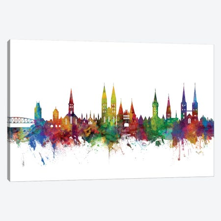 Lubeck, Germany Skyline Canvas Print #MTO1094} by Michael Tompsett Canvas Art