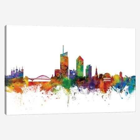 Lyon, France Skyline Canvas Print #MTO1097} by Michael Tompsett Canvas Art