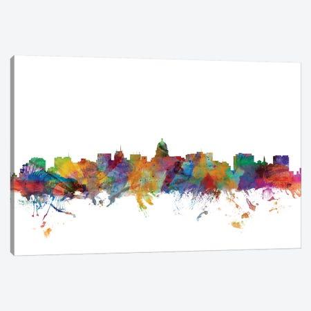 Madison, Wisconsin Skyline Canvas Print #MTO1098} by Michael Tompsett Canvas Print