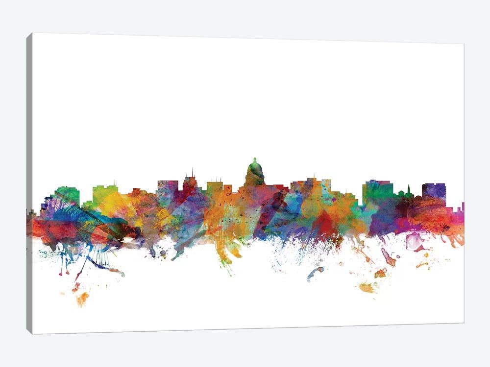 Madison, Wisconsin Skyline by Michael Tompsett 1-piece Canvas Artwork