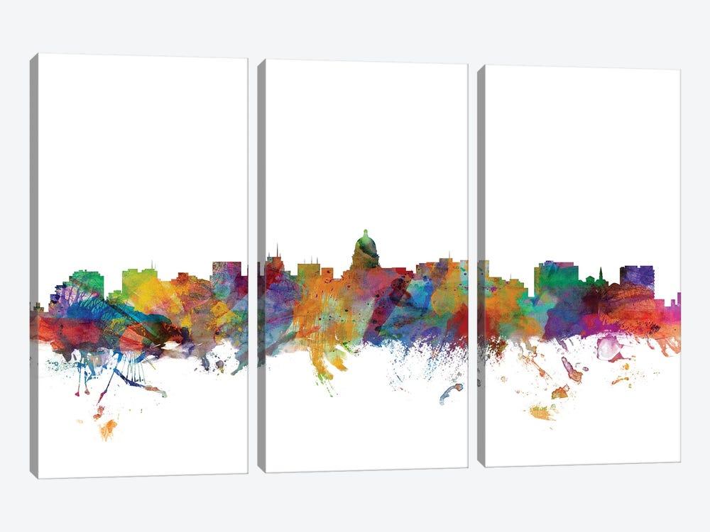 Madison, Wisconsin Skyline by Michael Tompsett 3-piece Canvas Artwork
