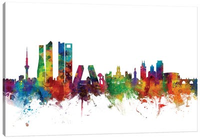 Madrid, Spain Skyline Canvas Art Print
