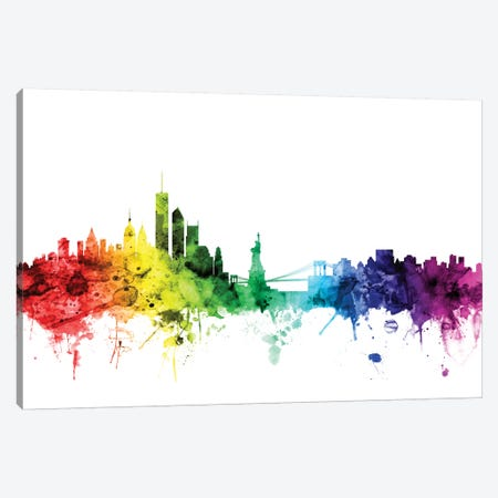New York City, New York, USA I Canvas Print #MTO109} by Michael Tompsett Canvas Art