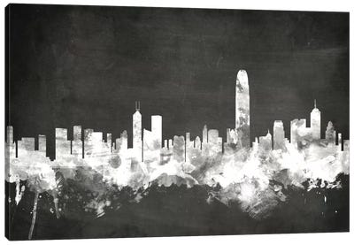 Blackboard Skyline Series: Hong Kong, People's Republic Of China Canvas Art Print