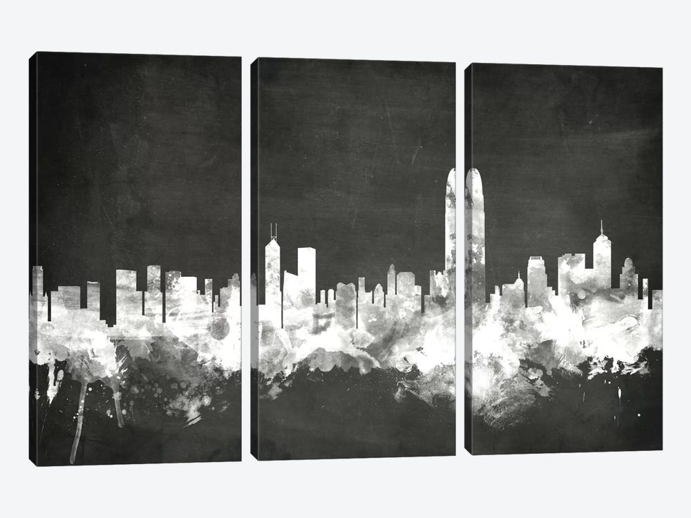 Hong Kong, People's Republic Of China by Michael Tompsett 3-piece Canvas Artwork
