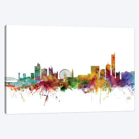 Manchester, England Skyline Canvas Print #MTO1101} by Michael Tompsett Art Print