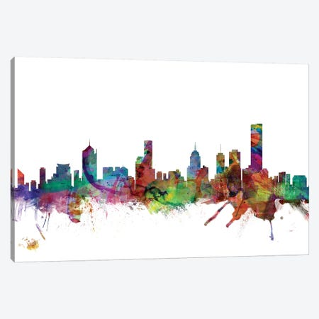 Melbourne, Australia Skyline Canvas Print #MTO1102} by Michael Tompsett Canvas Print