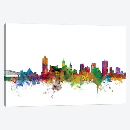 Memphis, Tennessee Skyline Canvas Print #MTO1103} by Michael Tompsett Canvas Print