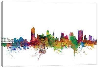 Memphis, Tennessee Skyline Canvas Art Print
