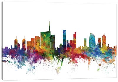 Milan, Italy Skyline Canvas Art Print