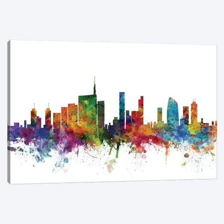 Milan, Italy Skyline Canvas Print #MTO1106} by Michael Tompsett Canvas Artwork