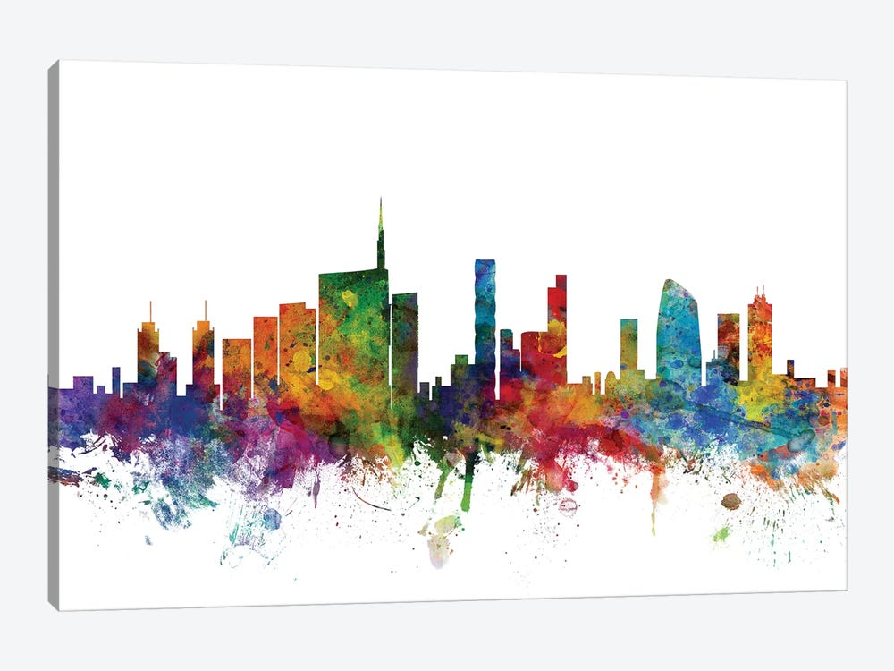 Milan, Italy Skyline by Michael Tompsett 1-piece Canvas Artwork