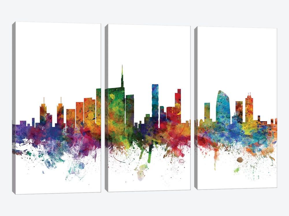 Milan, Italy Skyline by Michael Tompsett 3-piece Canvas Art