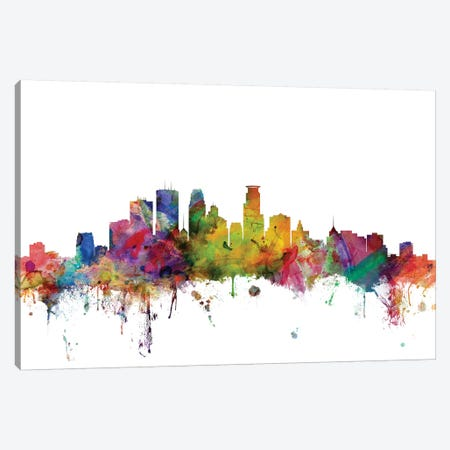 Minneapolis, Minnesota Skyline Canvas Print #MTO1108} by Michael Tompsett Art Print
