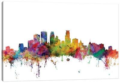 Minneapolis, Minnesota Skyline Canvas Art Print
